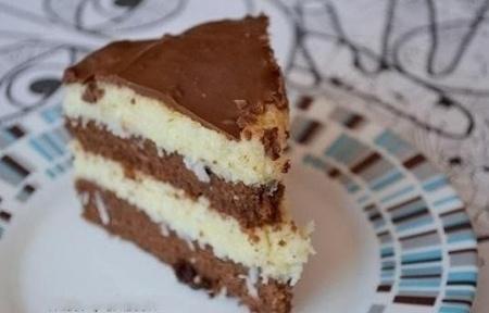 Торт Баунти. Рецепт вкусного десерта