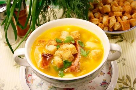 Суп гороховый с копченостями. Рецепт приготовления
